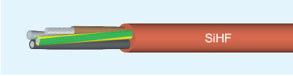 SiHF 5x2,5 Silikonový Kabel