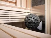 Harvia Globe - p��klad um�st�n� na st�nu