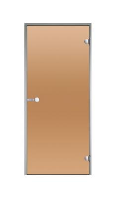 Skleněné dveře, ALU rám - BRONZE