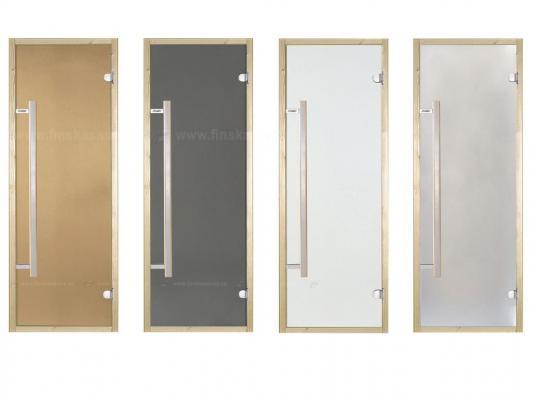 D71905M - Dveře do sauny Harvia Borovice / Sklo Satén 7x19
