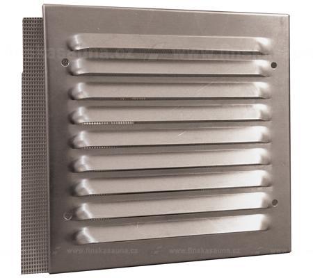 Ventilace sauny - ALU mřížka