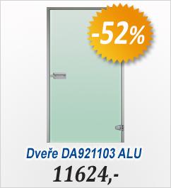Skleněné dveře, ALU rám 890x2090 - AZURO(V2014)