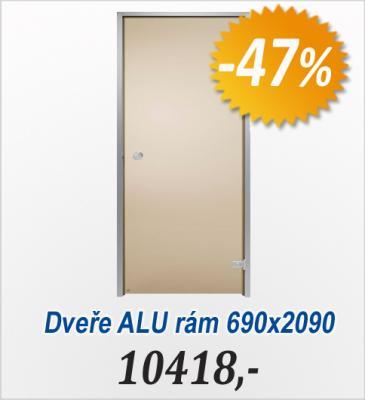 Skleněné dveře, ALU rám 690x2090 - Bronze(V2014)