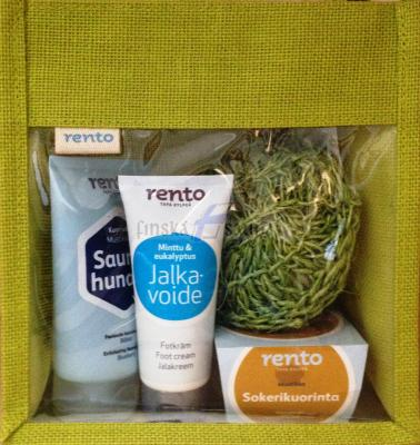 Kosmetický balíček do sauny s dárkovou taškou - varianta 2