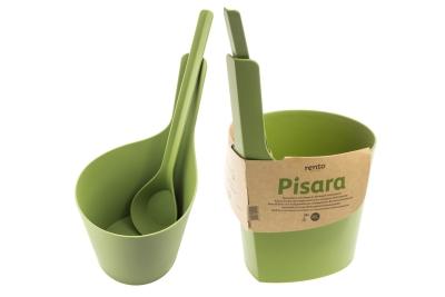 Biokompozitní vědro s naběračkou PISARA, zelené