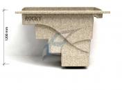 Ochlazovac� baz�nek Rocky - parametry z boku