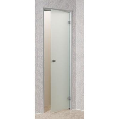 Skleněné dveře - PRAVÉ, ALU rám, 7x19 čiré