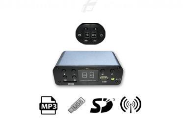 Sada MP3 Přehrávač do sauny s radiem (FM), USB a 2 ks MINI reproduktorů