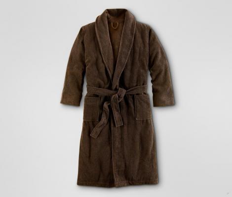 Froté župan do sauny, unisex, hnědý M
