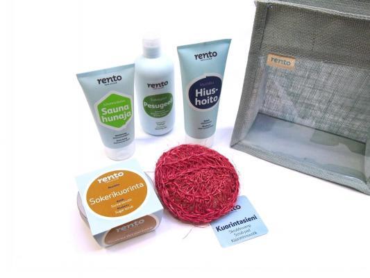 Dárkový modrý balíček do sauny Rento - varianta 4