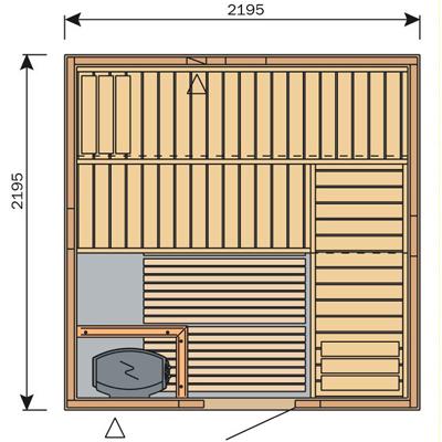 Finská sauna Harvia Vario S2222 / Formula