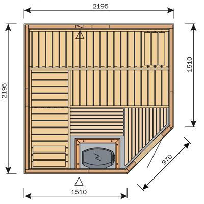 Finská sauna Harvia Vario S2222R / Formula