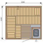 Finská sauna Harvia Vario S2522 / Formula