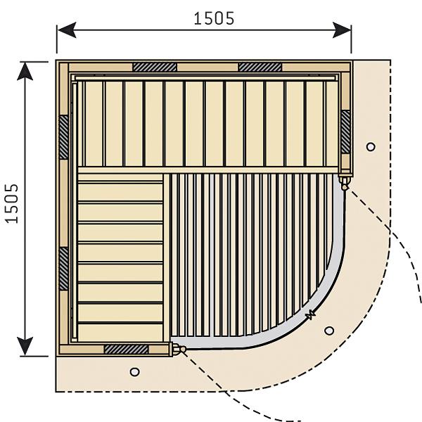 Rondium Infra small půdorys